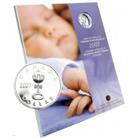 2007 Canada Baby's Lullabies CD & Sterling Silver Dollar Coin Gift Set