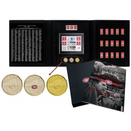 2009 (1909-) Canada NHL® Montreal Canadiens 3-Coin & Stamps Collector Set - 100 Years A Retrospective