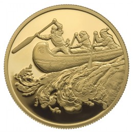 2005 Canada 22-karat Gold $200 Coin - Fur Trade