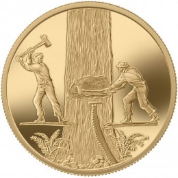 2006 Canada 22-karat Gold $200 Coin - Timber Trade