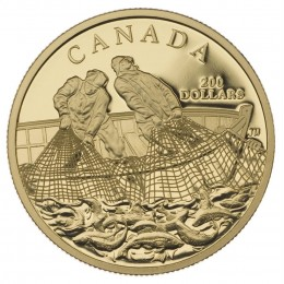2007 Canada 22-karat Gold $200 Coin - Fishing Trade