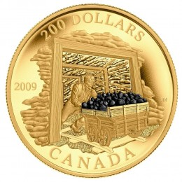 2009 Canada 22-karat Gold $200 Coin - Coal Mining Trade
