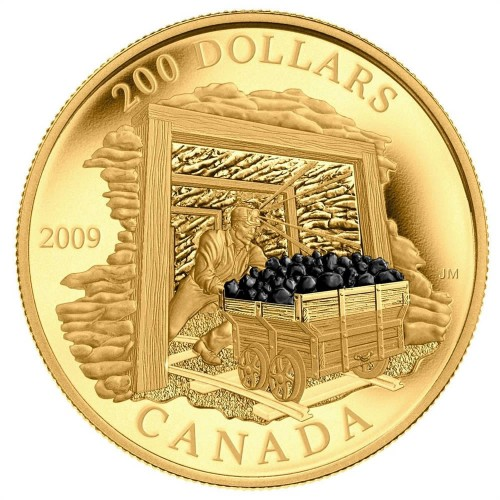mining gold coin