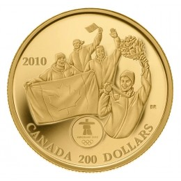 2010 Canada 22-karat Gold $200 Coin - Vancouver 2010 Olympic Winter Games: First Canadian Olympic Gold Medal on Home Soil