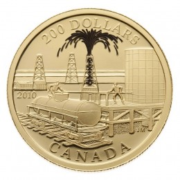 2010 Canada 22-karat Gold $200 Coin - Petroliumand Oil Trade