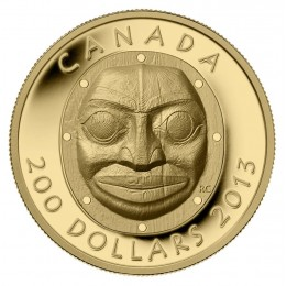 2013 Canada Pure Gold $200 Coin - Grandmother Moon Mask