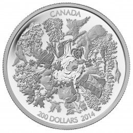 2014 Canada Fine Silver $200 Coin - Towering Forests of Canada