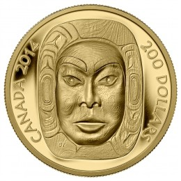 2014 Canada Pure Gold $200 Coin - Matriarch Moon Mask