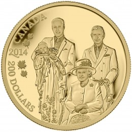 2014 Canadian $200 Royal Generations - Pure Gold Coin