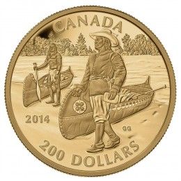 2014 Canada Pure Gold $200 Coin - Great Canadian Explorers Series: Samuel de Champlain