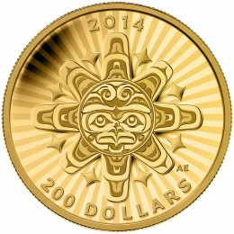 2014 Canada Pure Gold $200 Coin - Interconnections: Air - The Thunderbird