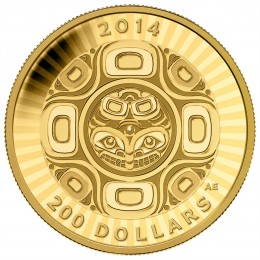 2014 Canada Pure Gold $200 Coin - Interconnections: Sea - The Orca