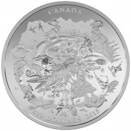 2015 Canada $200 For $200 Fine Silver Coin - Canada's Rugged Mountains