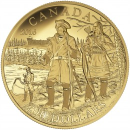 2016 Canada Pure Gold $200 Coin - Great Canadian Explorers Series: Pierre Gaultier de la Verendrye