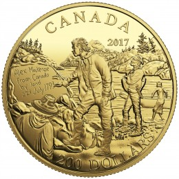 2017 Canada Pure Gold $200 Coin - Great Canadian Explorers Series: Alexander Mackenzie