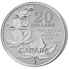 2011 Canada Fine Silver $20 Coin - $20 for $20: Maple Leaf -just coin in capsule