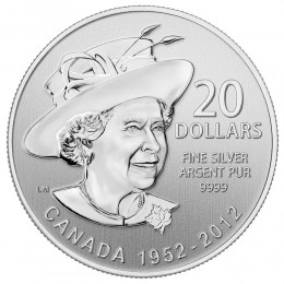 2012 Canada Fine Silver $20 Coin - $20 for $20: The Queen's Diamond Jubilee