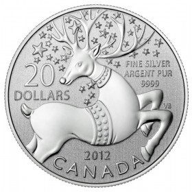 2012 Canada Fine Silver $20 Coin - $20 for $20: Magical Reindeer