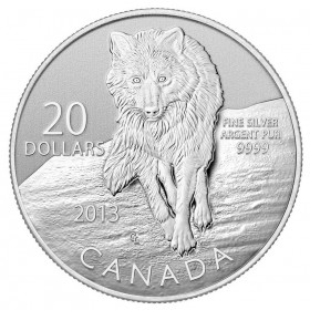 2013 Canada Fine Silver $20 Coin - $20 for $20: Wolf