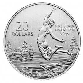 2014 Canada Fine Silver $20 Coin - $20 for $20: Summertime