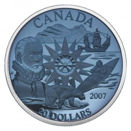 2007 Canada Sterling Silver $20 Coin - Polar Year (Plasma)