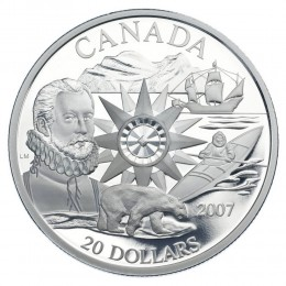 2007 Canada Sterling Silver $20 Coin - Polar Year