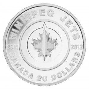 2011-2012 Canadian $20 NHL® Winnipeg Jets 1 oz Fine Silver Coin