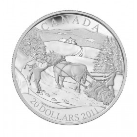 2011 Canadian $20 Winter Scene Proof Sterling Silver Coin