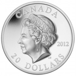 2012 Canada Fine Silver $20 Coin - High Relief Queen's Diamond Jubilee
