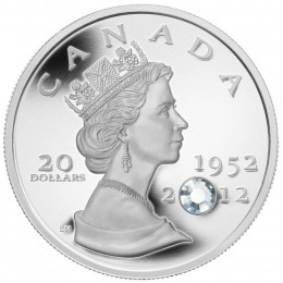 2012 Canada Fine Silver $20 Coin - The Queen's Diamond Jubilee