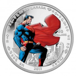 2013 Canada Fine Silver $20 Coin - Superman™ Man of Steel™