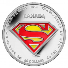 2013 Canada Fine Silver $20 Coin - Superman™: The Shield