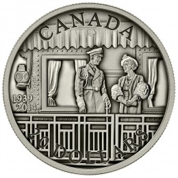 2014 Canadian $20 75th Anniversary of the First Royal Visit - 1 oz Fine Silver Coin