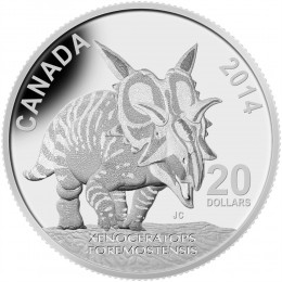 2014 Canada Fine Silver $20 Coin - Dinosaurs of Canada: Xenoceratops Foremostensis