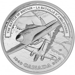 2015 Canada Fine Silver $20 Coin - Second World War: Battlefront Series - The Battle of Britain