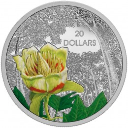 2015 Canada Fine Silver $20 Coin - Forests of Canada: Carolinian Tulip-Tree