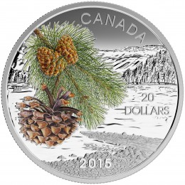 2015 Canada Fine Silver $20 Coin - Forests of Canada: Coast Shore Pine
