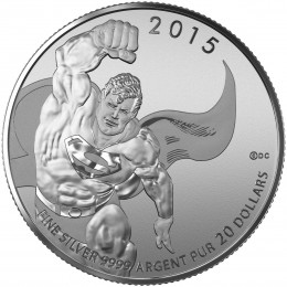 2015 Canada Fine Silver 20 Dollar Coin - $20 for $20: Superman™