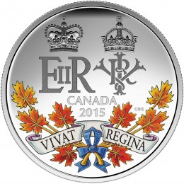 2015 Canadian $20 A Historic Reign - 1 oz Fine Silver Coin