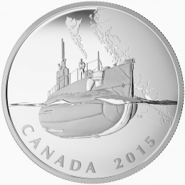 2015 Canadian $20 The Canadian Home Front: Canada's First Submarines During The First World War - 1 oz Fine Silver Coin