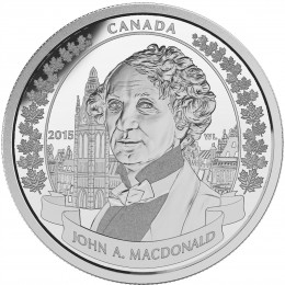 2015 Canada Fine Silver $20 Coin - 200th Anniversary of the Birth of Sir John A. Macdonald