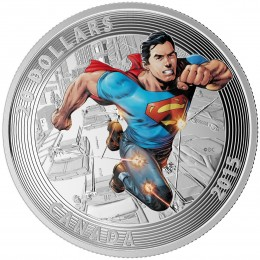 2015 Canadian $20 Iconic Superman Comic Book Covers: Action Comics #1 (2011) - 1 oz Fine Silver Coloured Coin