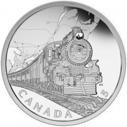 2015 Canada Fine Silver $20 Coin - The Canadian Home Front: Transcontinental Railroad