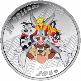 2015 Canadian $20 Looney Tunes™: Merrie Melodies 1 oz Fine Silver Coloured Coin