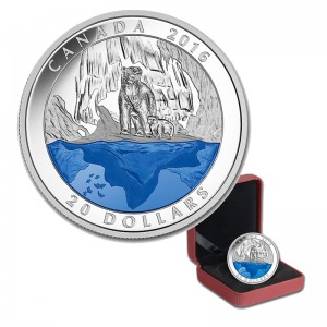 2016 Canada Fine Silver $20 Coin - Iconic Canada Polar Bear (Masters Club Exclusive)