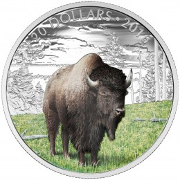 2016 Canadian $20 Majestic Animals: The Benevolent Bison - 1 oz Fine Silver Coin