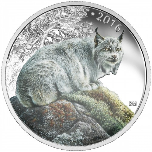 2016 Canada Fine Silver $20 Coin - Majestic Animals: The Canadian Lynx