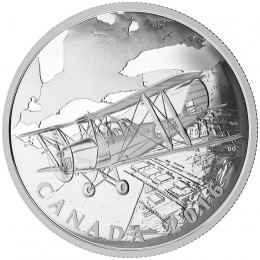 2016 Canadian $20 British Commonwealth Air Training Plan - 1 oz Fine Silver Coin