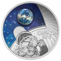 2016 Canadian $20 The Universe: Glow-in-the-Dark Glass with Opal - 1 oz Fine Silver Coin