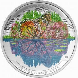 2016 Canadian $20 Landscape Illusion: Butterfly - 1 oz Fine Silver Coin